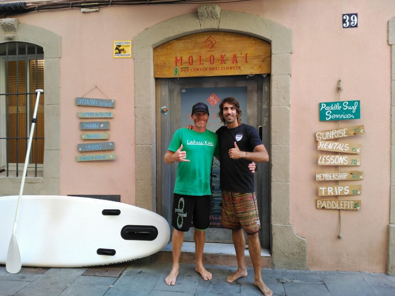 Kelly Margetts visita Barcelona y da un curso de SUP race