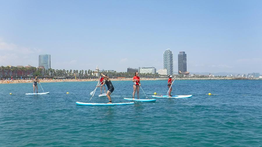 Fin de semana fantástico de paddle surf en la Barceloneta