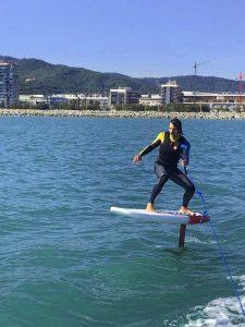 Clase Grupal de Iniciación al Foil SUP Surf @ Port Olimpic, Barcelona
